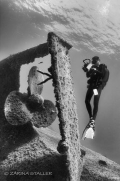 RUDDER INSPECTION: Photographed in Fleves (Panagis Wreck), Greece