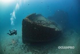 Diver and shipwreck. Captain Dan Shipwreck, Pompano Beach, FL
