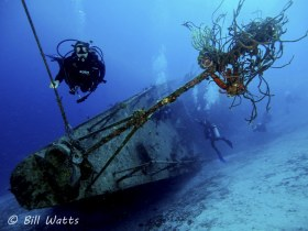 Capt Keith Tibbetts Wreck  in Cayman Brac.  © Bill Watts, All Rights Reserved.