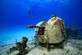 """Guns"" is a Russian Warship (Capt Tibbetts) in Cayman Brac"