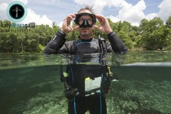 A shot I took for Scubalab and Bare Sports of Scubalab director, Roger Roy, who could moonlight as a dive model!