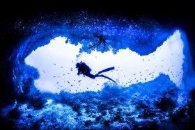 Fish Shaped cave entrance, Palau