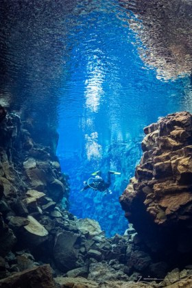 Silfra Fissure.  Photographed in Iceland