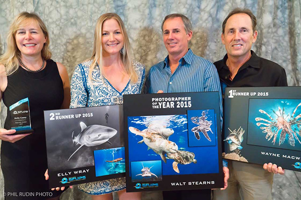 Kelly Casey - Honorable Mention, Elly Wray - 2nd Runner Up, Walt Stearns - 2015 Photographer of the Year, Wayne MacWilliams - 1st Runner Up